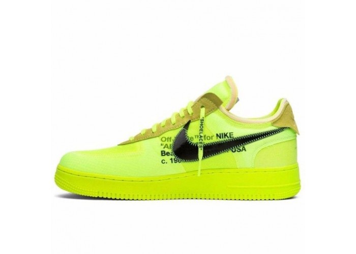 Кроссовки Nike Air Force 1 x Off White Green (36-45)