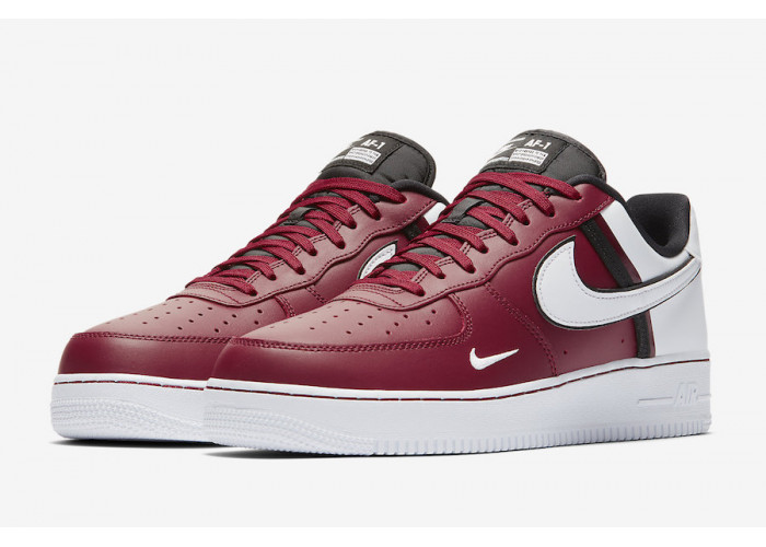 Кроссовки Nike Air Force 1 White & Burgundy (41-45)