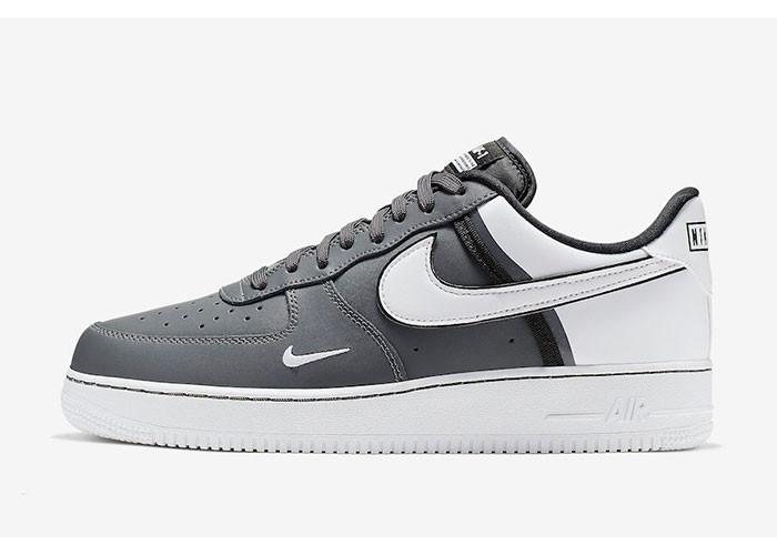 Кроссовки Nike Air Force 1 White & Grey (41-45)