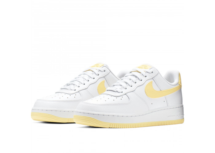 Кроссовки Nike Air Force 1 '07 White/Bicycle Yellow-White-Dark Sulfur (36-40)