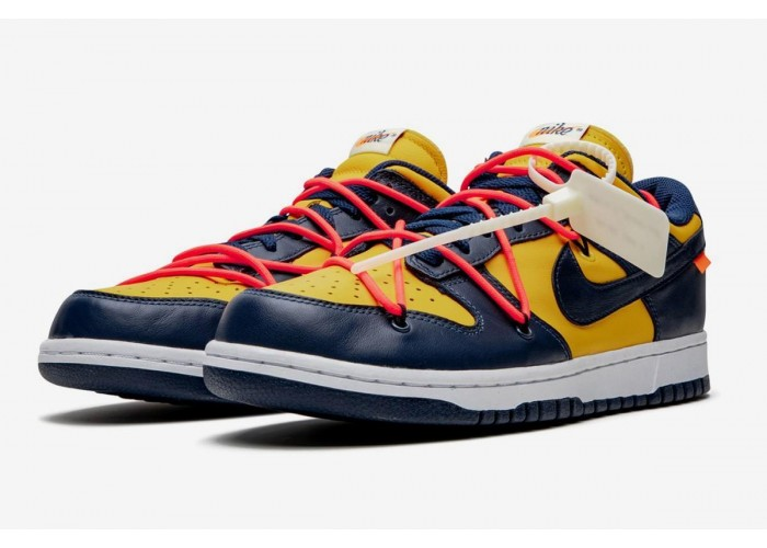 "NIKE DUNK LOW X OFF WHITE ""YELLOW/BLUE"""