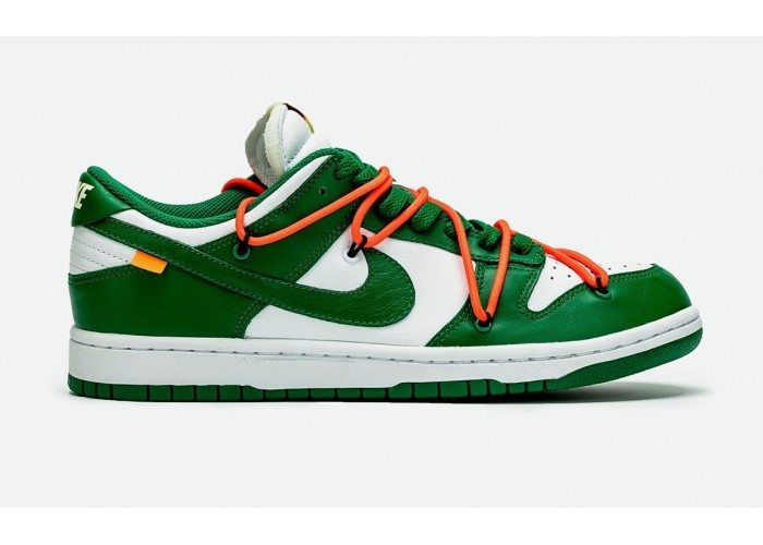 Кроссовки Off-White x Nike Dunk Low «Pine Green»
