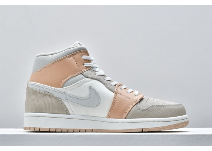 "Кроссовки Air Jordan 1 Mid ""Milan"" Sail/Light Bone/String"
