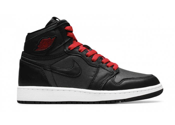 Кроссовки Air Jordan 1 Satin Black Gym Red