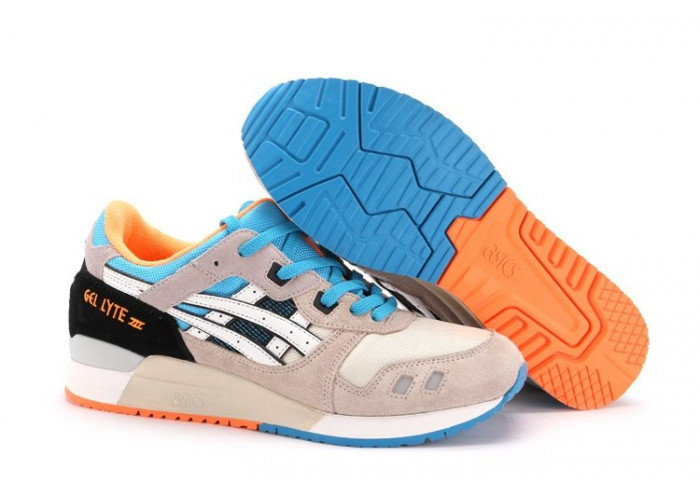 Asics Gel Lyte 3 Men (White/Bright-Orange/Blue) (006)