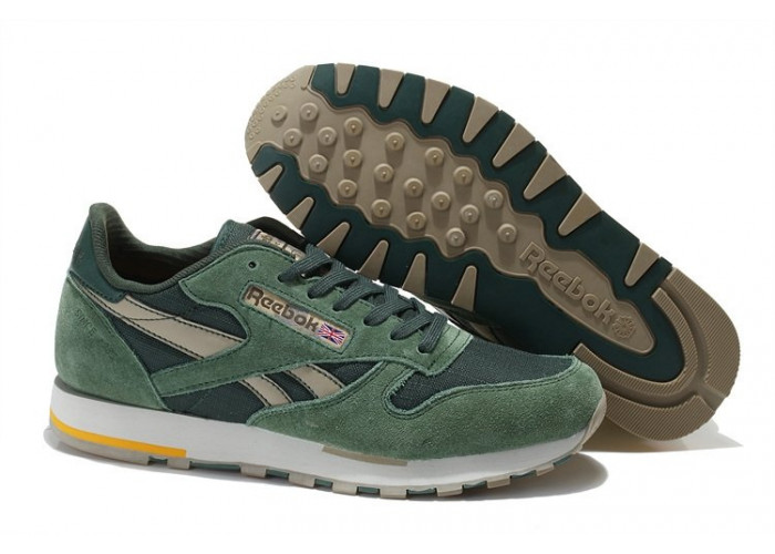 Кроссовки Reebok Classic Leather Utility (Olive/Canvas/Chino/Prchmnt) (002)