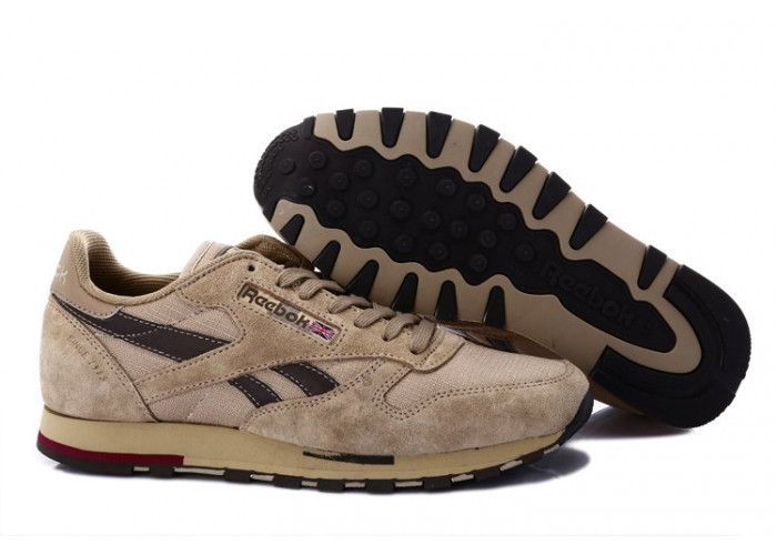 Кроссовки Reebok Classic Leather Utility (Cement/Brown/Canvas/Earth) (003)