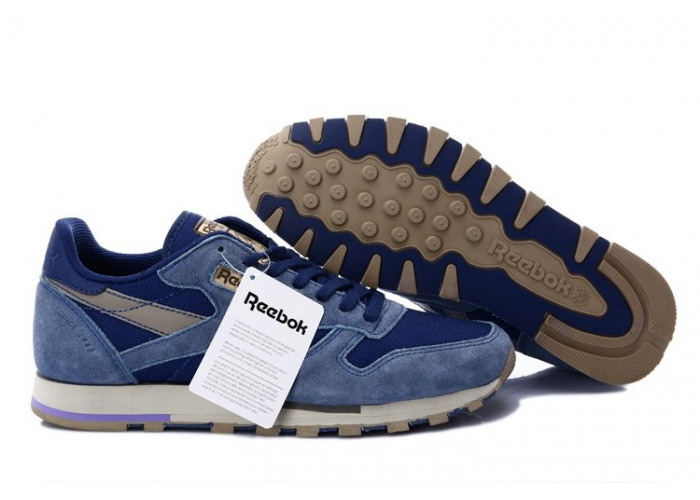 Кроссовки Reebok Classic Leather Utility (Blue/Cement/Canvas) (004)