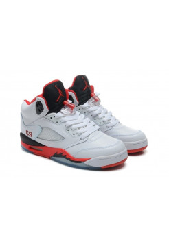 Nike Air Jordan 4 Retro Жен (White/Fire Red/Black) (007)