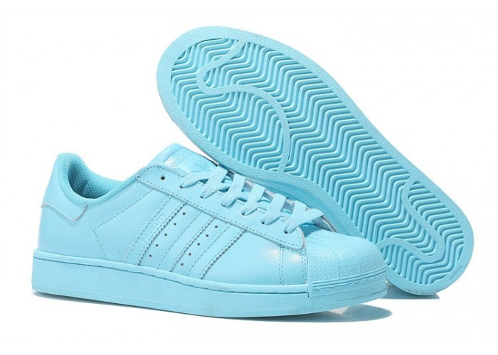 """Adidas Superstar """"Supercolor"""" Жен (Clear Sky) (008)"""