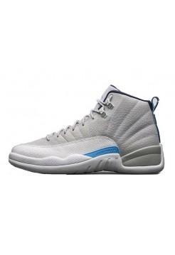 Кроссовки Nike Air Jordan 12 Retro Серый-Голубой (005)