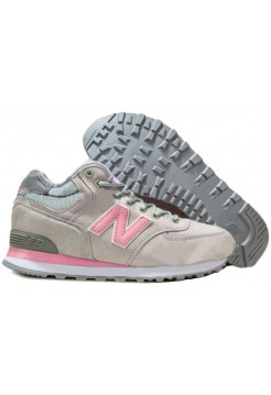 New Balance 574 High (Silver Grey/Pink) (061)