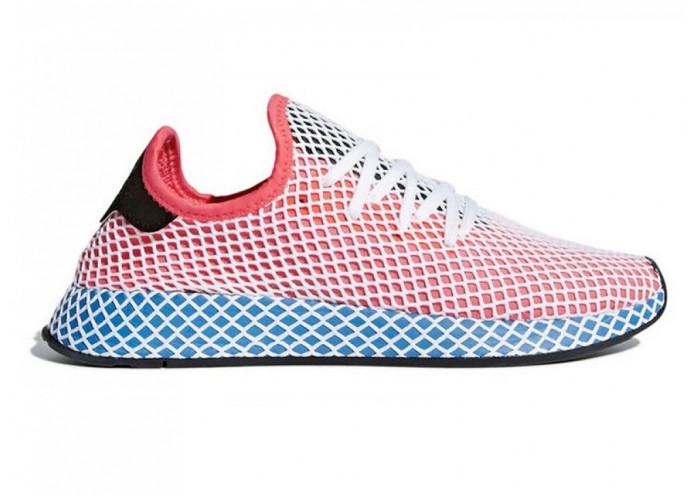 Adidas Deerupt Runner J (Sol Red/Blue Bir) (004)