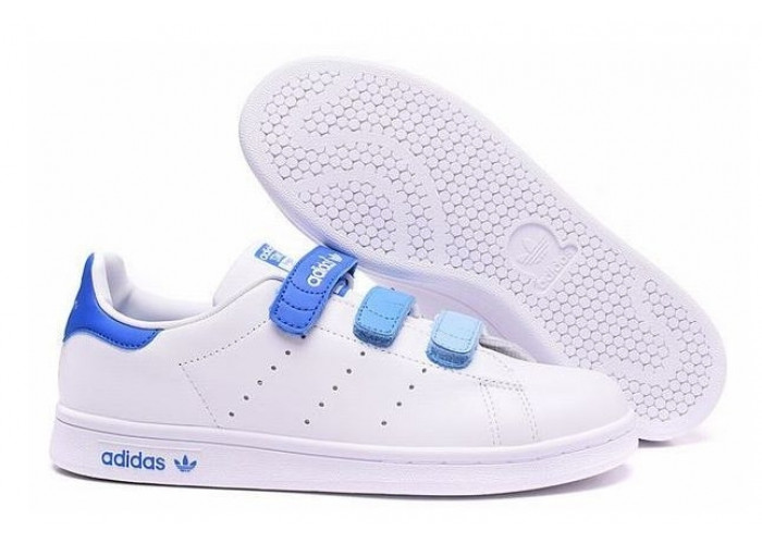 Adidas Stan Smith CF EF (White/Sky Blue) (017)