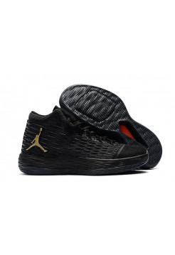 Air Jordan Melo M13 (Black Metallic/Gold Anthracite) (001)