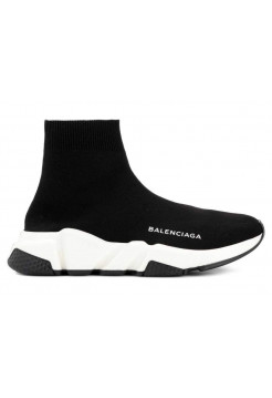 Кроссовки Balenciaga Speed Trainer (Black/White) (008)