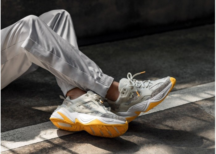 Кроссовки M2K Tekno Platinum Grey/Yellow (36-40)
