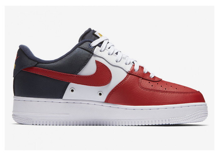 Кроссовки унисекс Nike Air Force 1 Low 07 LV8 Obsidian/White-University Red (41-45)