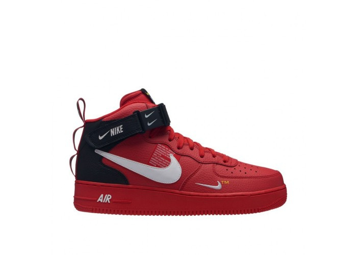 Кроссовки NIKE AIR FORCE 1 MID `07 LV8 (RED) (36-45)