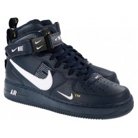 Кроссовки унисекс NIKE AIR FORCE 1 MID UTILITY 07 LV8 OBSIDIAN WHITE BLACK (36-45)