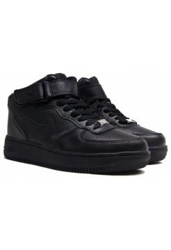 Зимние кроссовки Nike Air force 1 Черные (36-45)