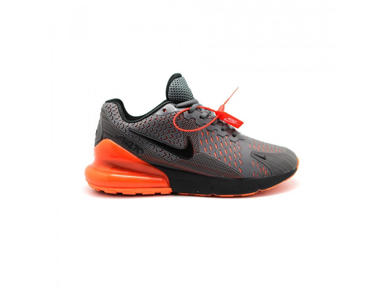 3afd010d Мужские кроссовки Nike Air Max 270 Flair KPU (серый/оранжевый ...