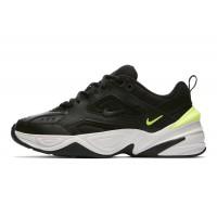 Женские кроссовки Nike M2K Tekno (чёрный/белый/зелёный)