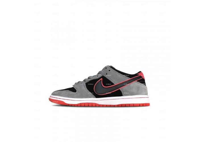 Женские кроссовки Nike Dunk (серо-черный)
