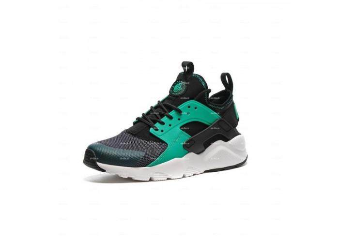 Женские кроссовки Nike Air Huarache (черно-зеленый)