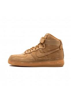 Женские кроссовки Nike Air Force 1 Mid 07 PRM (светло-коричневый)