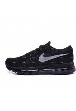 Женские кроссовки Nike Air Max Flyknit (черный)