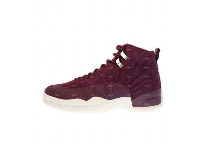 Мужские кроссовки Nike Air Jordan 12 Retro (бордовый)