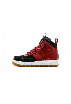 Мужские кроссовки Nike Lunar Force 1 Duckboot (красно-черный)
