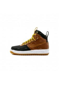 Мужские кроссовки Nike Lunar Force 1 Duckboot (коричнево-черный)