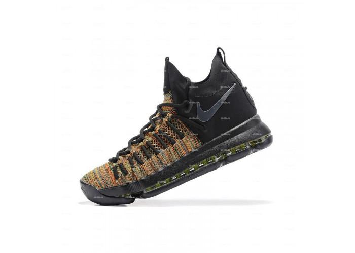 Мужские кроссовки Nike Zoom KD 9 Elite (коричнево-черный)