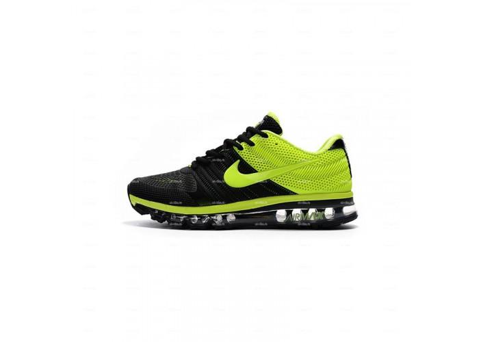 Мужские кроссовки Nike Air Max 2017 KPU (черно-салатовый)